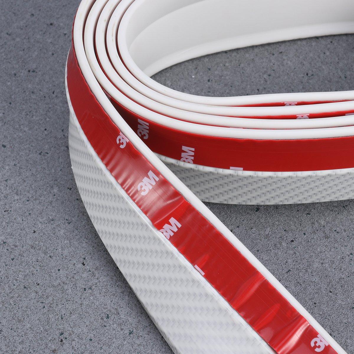 Bianco WINOMO Universale Spoiler Lippe Spoiler Anteriore Labbro autoadesivo strisce in gomma auto anteriore posteriore Paraurti Protezione
