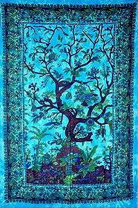 The Boho Street Exclusive Custom Range Twin Size Tapestries, Indian Mandala Wall Art, Hippie Wall Hanging, Bohemian Bedspread