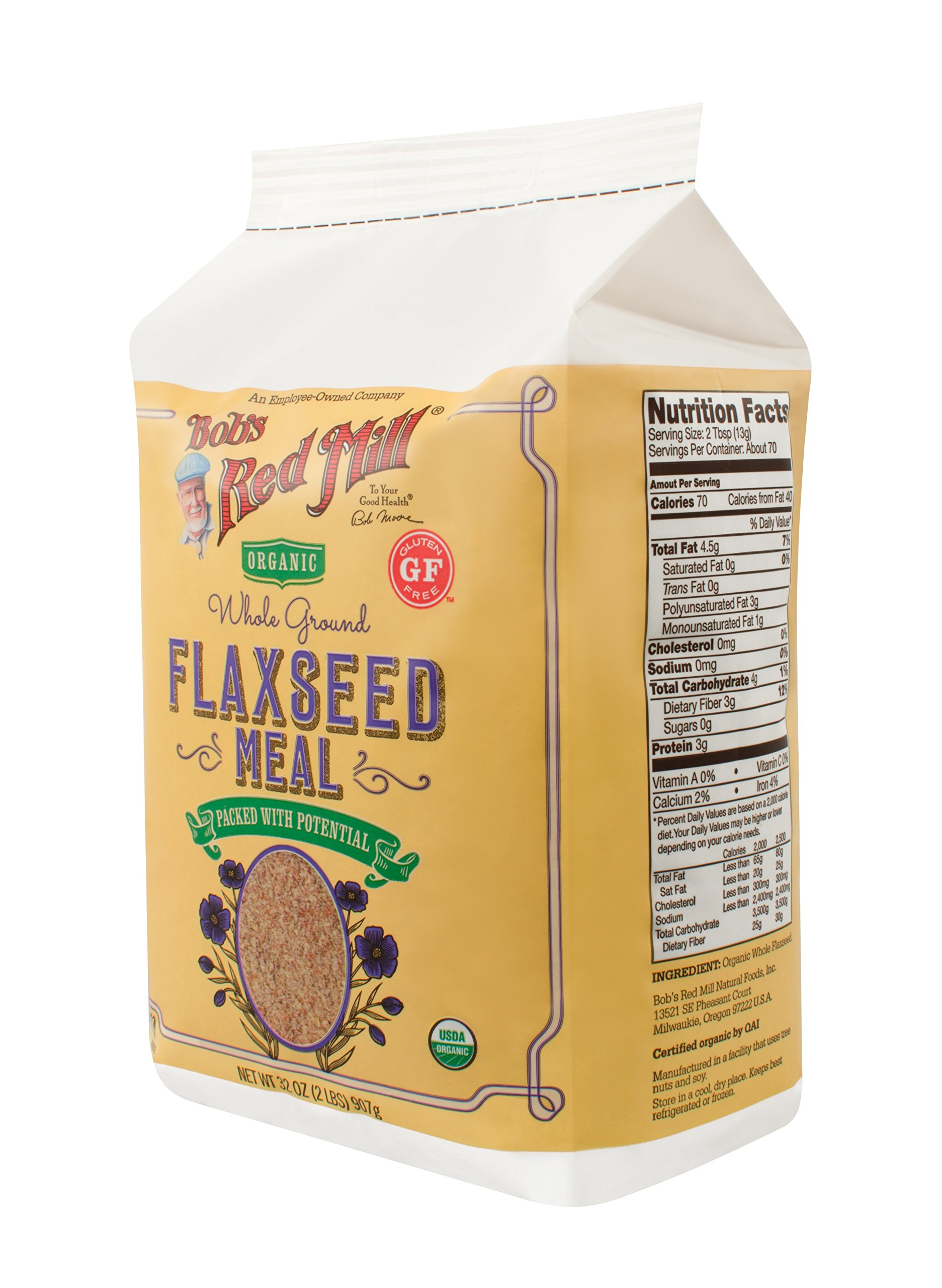 Bob's Red Mill Organic Brown Flaxseed Meal, 32 Ounce (Pack of 4) (Package May Vary) by Bob's Red Mill (Image #19)