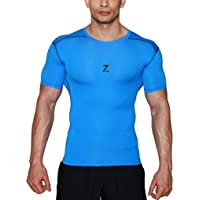 Azani Series Half Sleeve Compression Tops - Blue