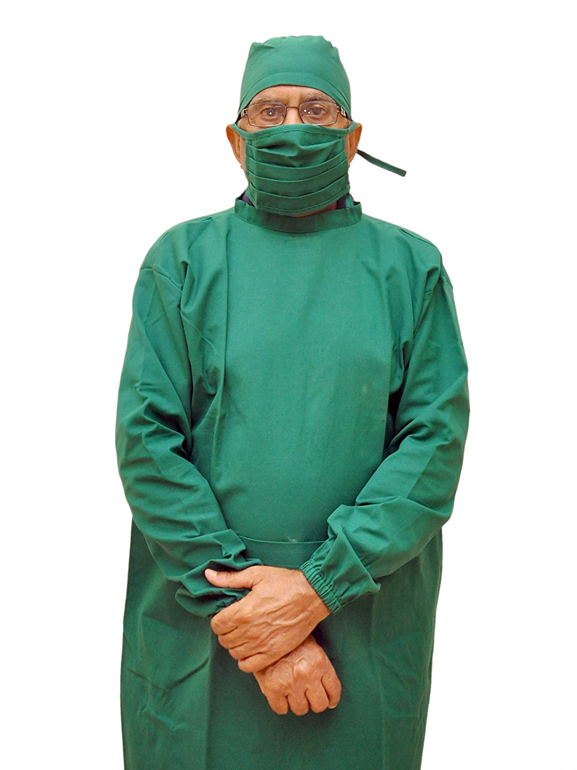 MEDIFIT OT/Surgical Gowns, Cap and Mask (X-Large, Green): Amazon.in ...