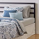 Amazon Basics 8-Piece Bed-in-a-Bag - Soft, Easy-Wash Microfiber - Twin/Twin XL, Blue Watercolor Floral