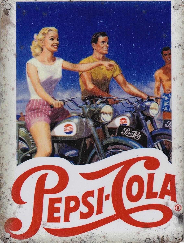 Cartel metálico Original de Pepsi Cola para Motocicletas, 40 ...