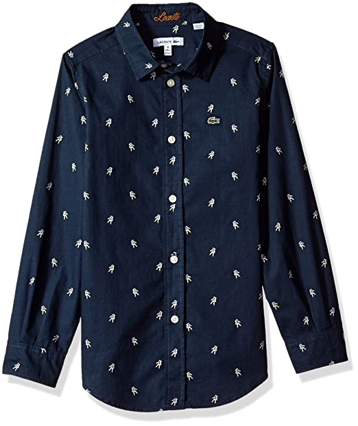 Amazon com: Lacoste Little Long Sleeve All Over Space Man