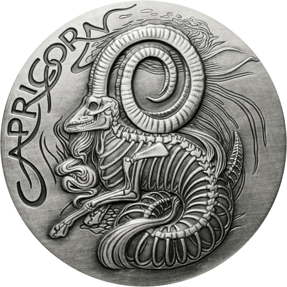 Power Coin Capricorn Capricornio Memento Mori Zodiac Skull ...