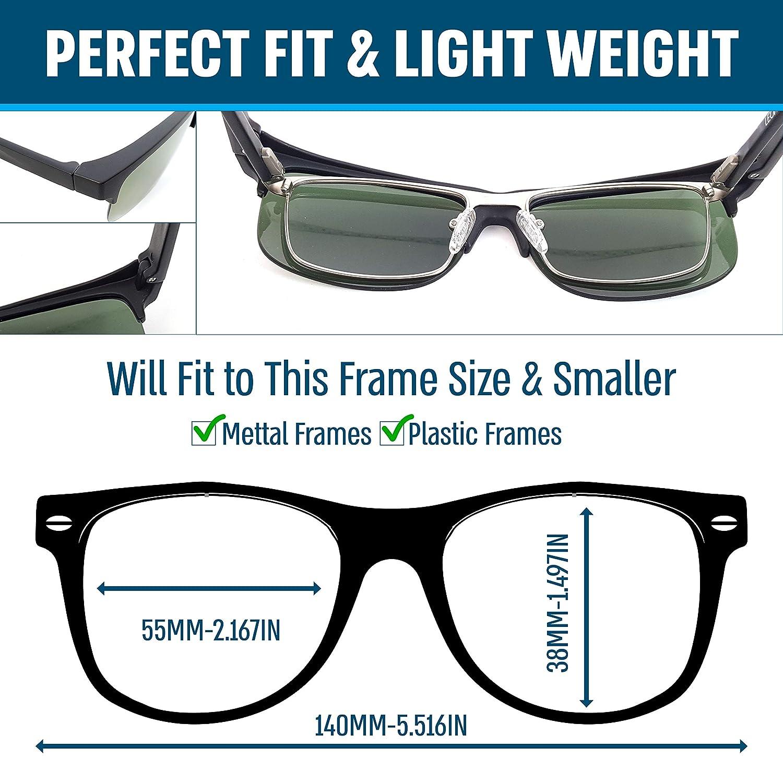 Amazon.com: Gafas de sol polarizadas con clip para llevar ...