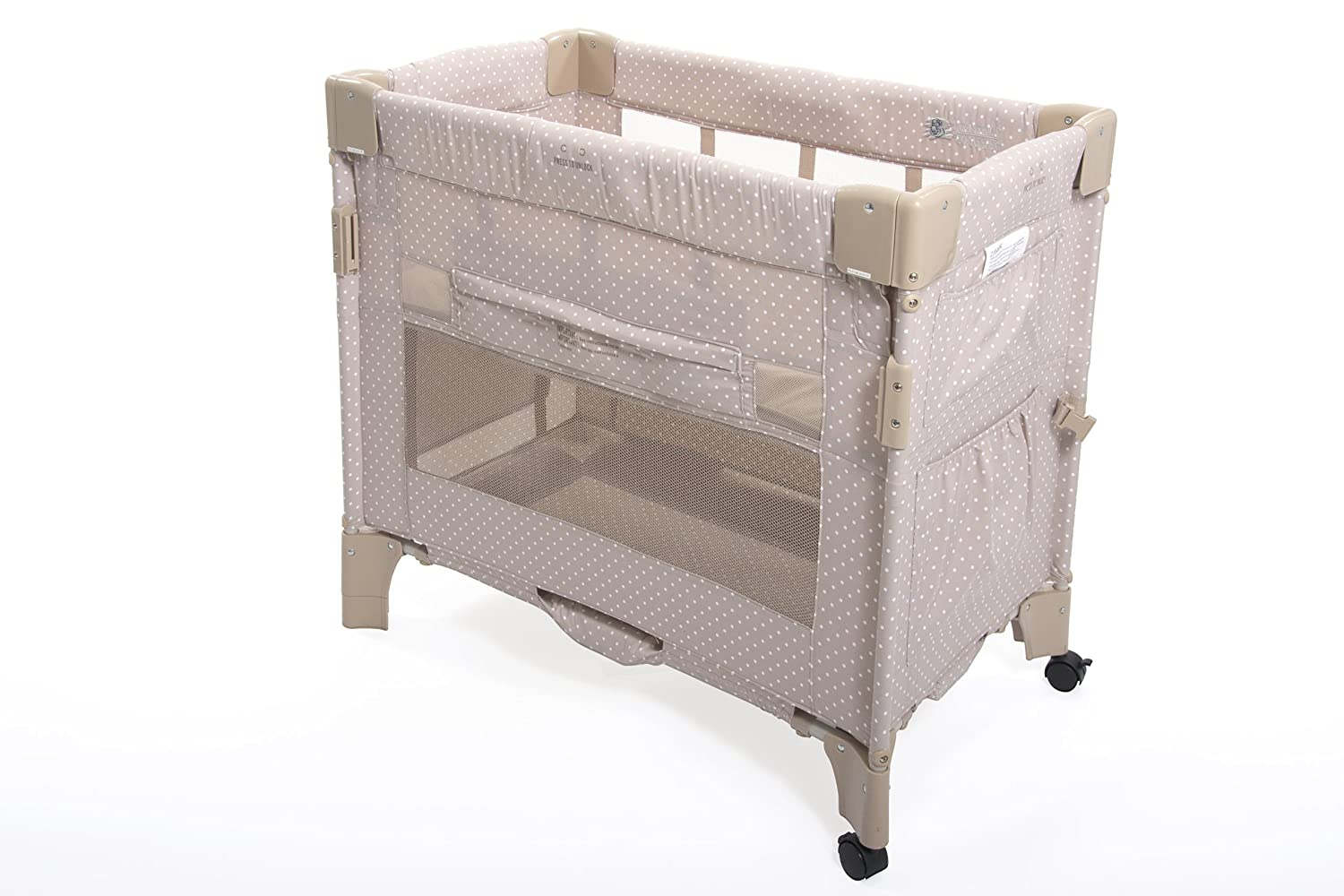 Amazon.com : Arm's Reach Co-Sleeper Mini Bassinet, Tan Dot (Discontinued by  Manufacturer) : Baby