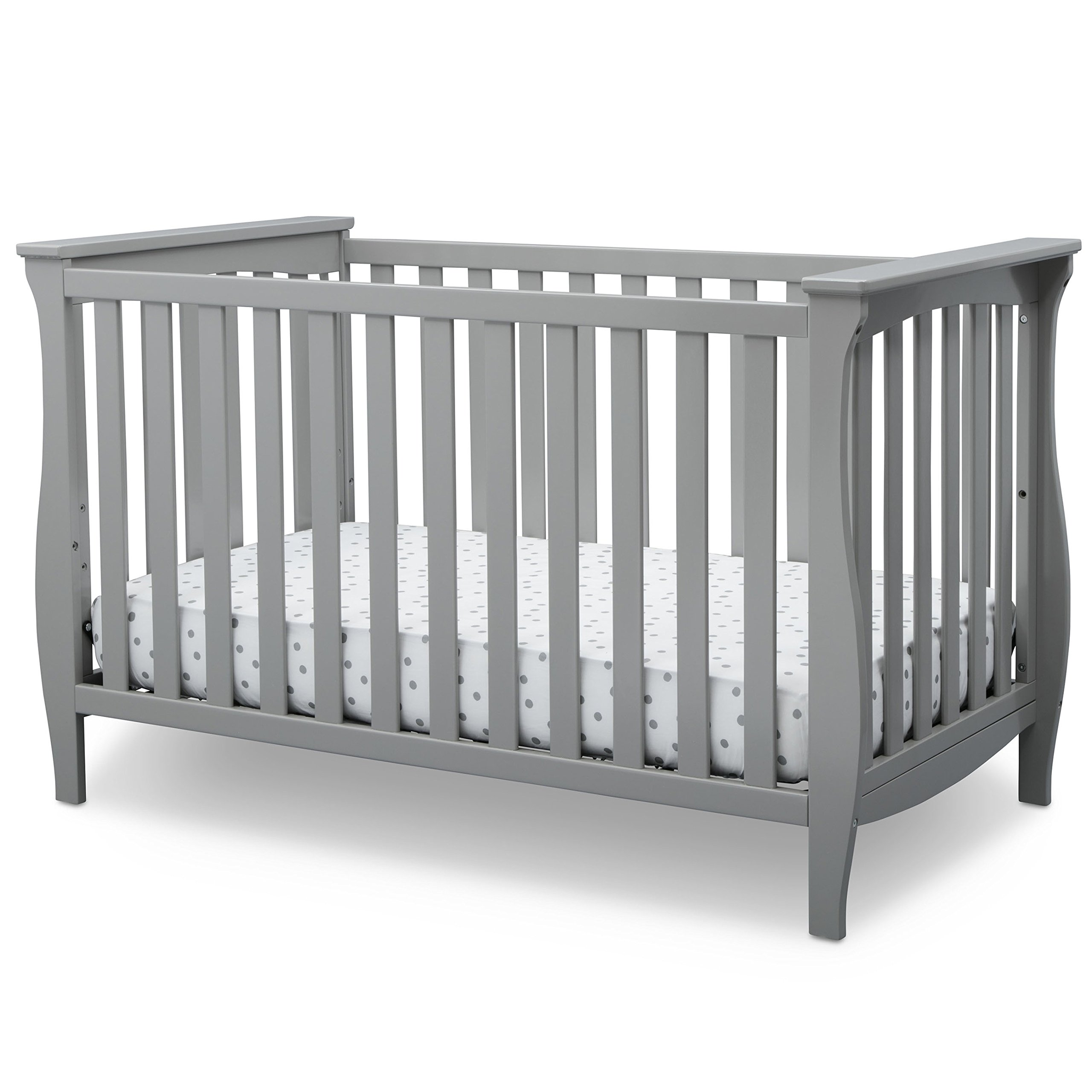 Delta Children Lancaster 3 in 1 Convertible Crib, Grey