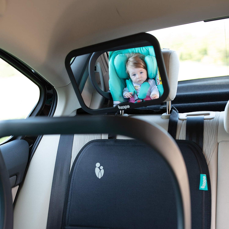 ZOPA R/ücksitzspiegel f/ür Baby Bruchsicherer Auto-R/ückspiegel f/ür Babyschale//Kinderautositz
