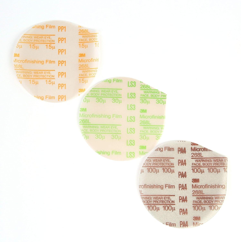 30 Micron Type D 3M Microfinishing PSA Film Disc 268L 6 in x NH Die 600Z