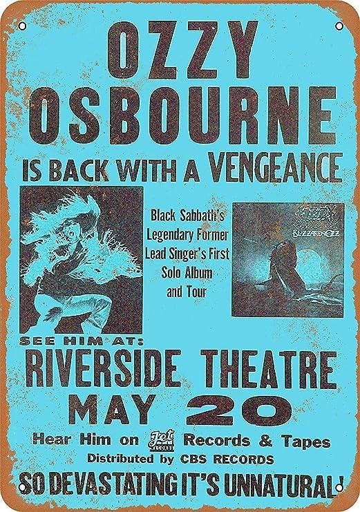 HiSign Ozy Osbourne in Milwaukee Retro Cartel de Chapa ...