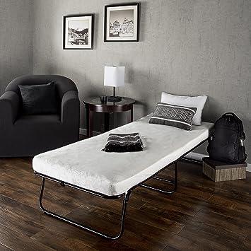 zinus sleep master traveler elite folding guest bed frame with comfort foam mattress - Mattress Frame
