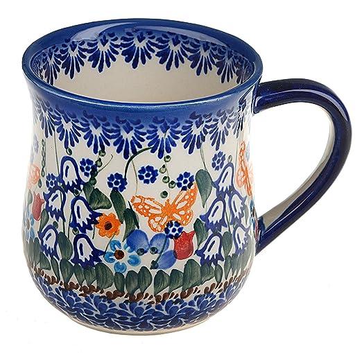 Amazon.com: BCV Boleslawiec clásico, polaco cerámica Taza de ...