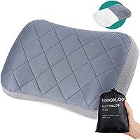 TREKOLOGY Almohada inflable de camping – Almohada hinchable compacta compresible – Almohada inflable de viaje almohada…
