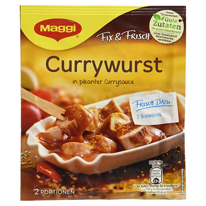 Maggi preparacion para sabor salchicha fresca con tomate picante 40g / Maggi Fix & Frisch Currywurst
