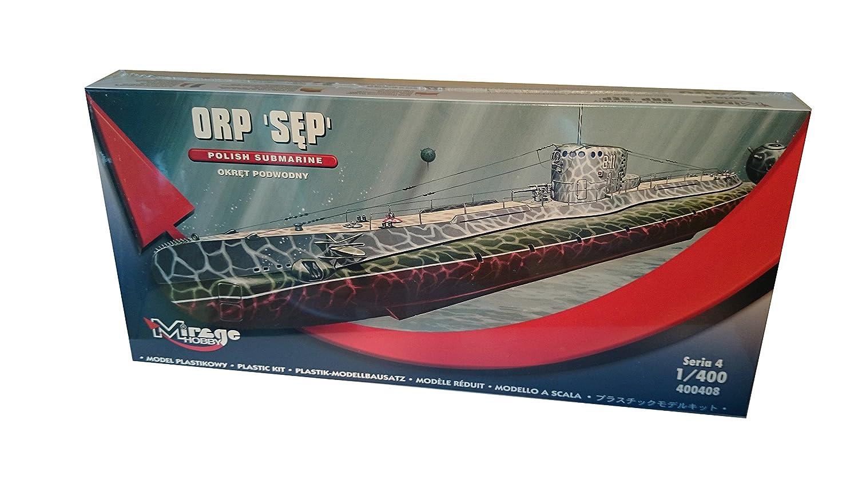 Mirage Hobby 400408, 1: 400 Maßstab, ORP Sep 'Geier' polnischen U-Boot, Plastikmodellbausatz ORP Sep 'Geier' polnischen U-Boot