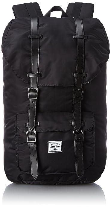 97d17f7102 Herschel Little America Nylon Backpack 23.5L- Black  Amazon.co.uk ...