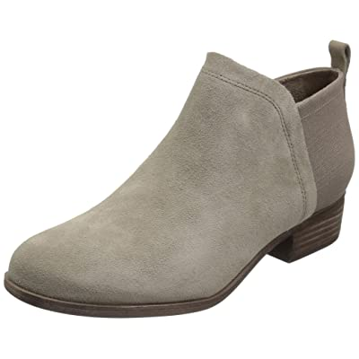 TOMS Women's Deia Fashion Boot, Desert Taupe Suede/Heritage Canvas Mix, 8 Medium US | Ankle & Bootie