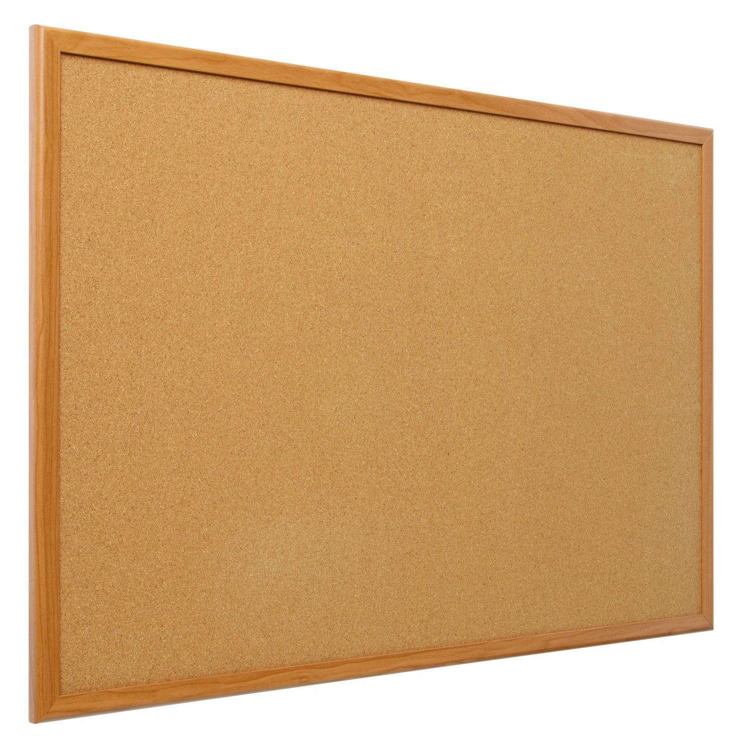 Amazoncom Quartet Bulletin Board Cork Board X Oak Wood - Us travel map on cork board