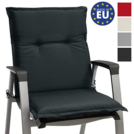 Beautissu cojín para sillas de Exterior, tumbonas, mecedoras o Asientos con Respaldo bajo Base NL 100x50x6 Placas compactas de gomaespuma - Gris ...