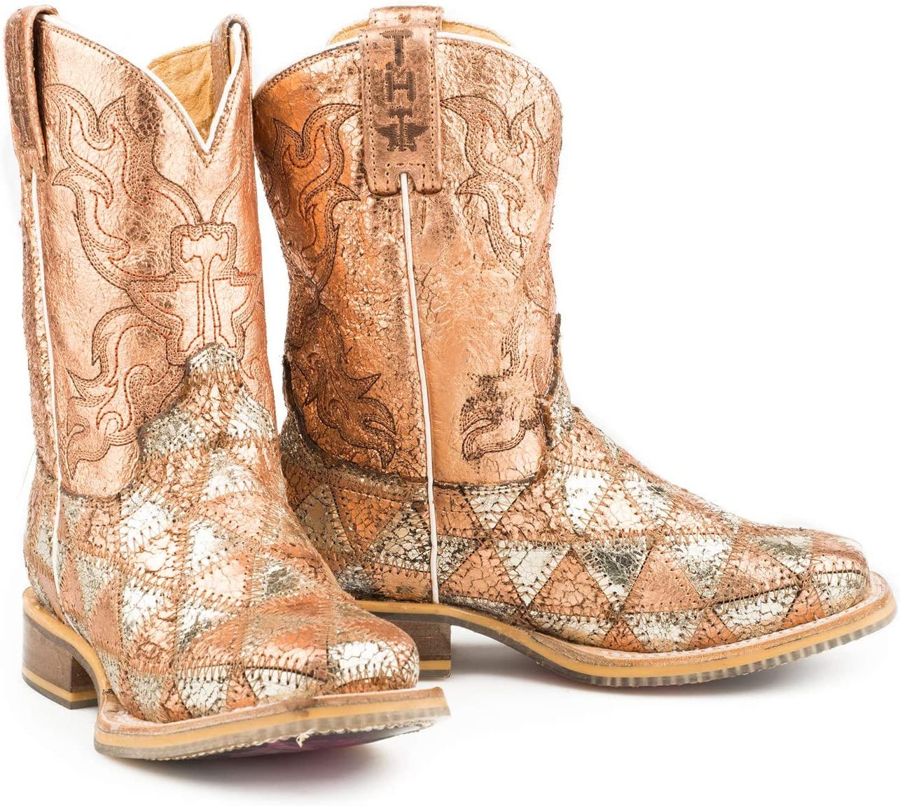 Tin Haul Boys Mish and Mash Western Boot Square Toe Multi 5 D