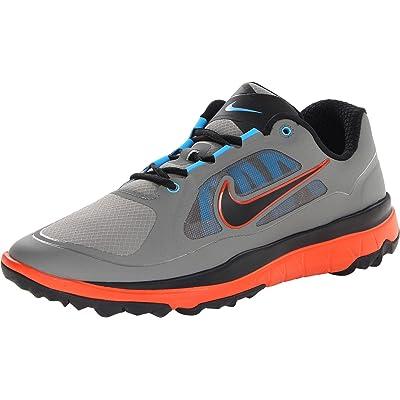 NIKE Golf Men's NIKE FI Impact Golf Shoe, Med Base Grey/Team Orange//Black, 9.5 D(M) US | Golf