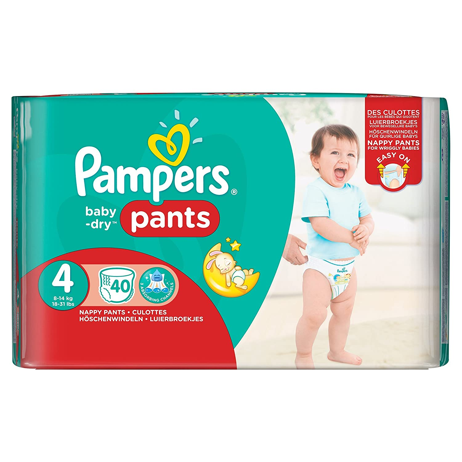 Pampers 81666639 Baby-Dry Pants windelhose wei/ß