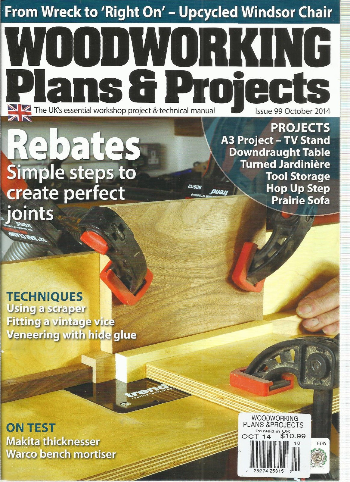 WOODWORKING PLANS & PROJECTS, OCTOBER 2014, ISSUE 99 by Generic (Image #1)