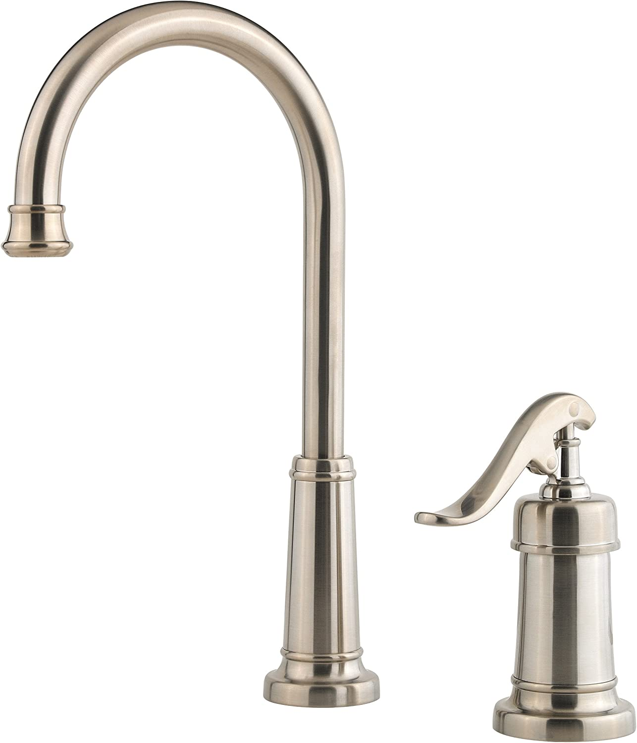 Pfister LG72-YP2K Ashfield 1-Handle Bar Prep Kitchen Faucet in Brushed Nickel, 1.8gpm