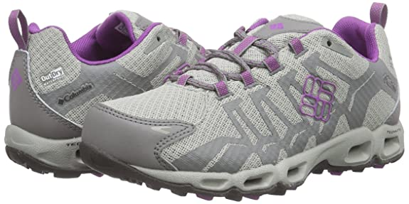Amazon.com | Columbia Womens Ventrailia Outdry Hiking Sneakers, Silver Manmade, Rubber, 6 M | Hiking Shoes
