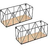 Vertical Standards Wall Storage Baskets: Modern Metal Hanging Decor - Mountable Wire Organizer Bin Shelf/Basket for…