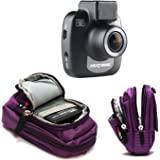 Navitech Purple Carrying Case and Travel Bag Compatible with TheNextbase 612GW Dash Cam