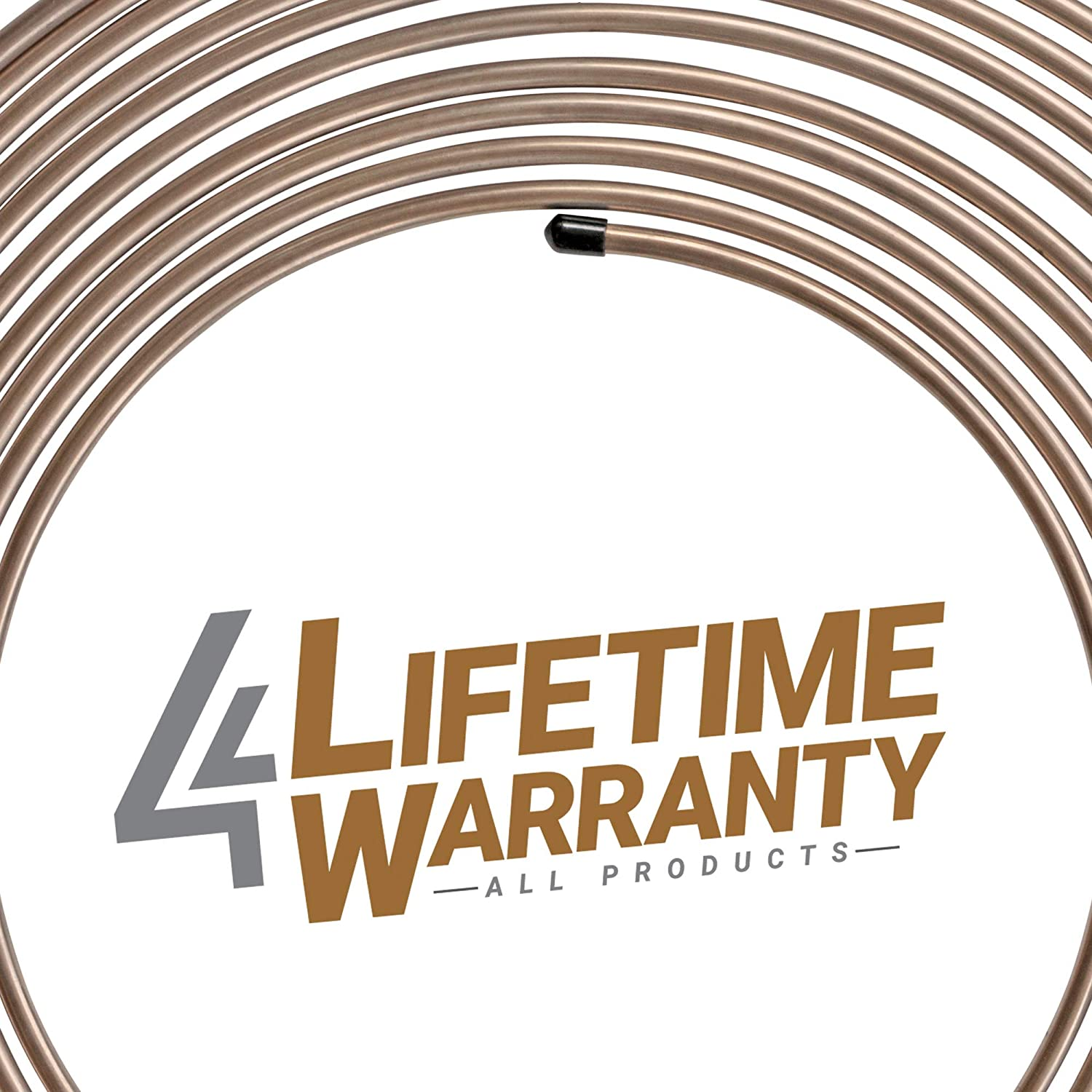 2 Coils 32 SKU Fitting Assortment 25ft 3//16 and 1//4 4LIFETIMELINES Nickel Copper