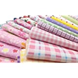 "Misscrafts 25pcs 8"" x 8"" (20cm x 20cm) Top Cotton Craft Fabric Bundle Squares Patchwork DIY Sewing Scrapbooking Quilting Dot Pattern"