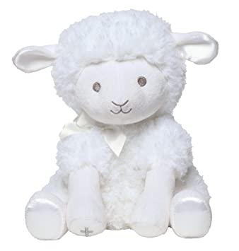 Amazon Com C R Gibson White Musical Baby Lamb Stuffed Animal For