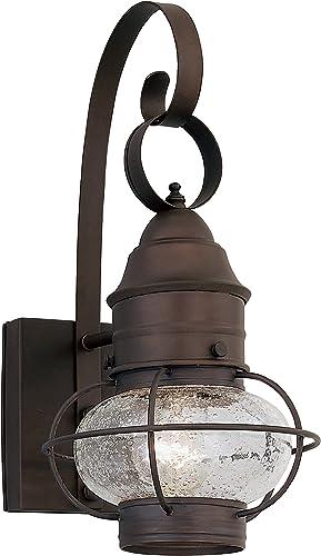 Designers Fountain 1751-RT Nantucket 7 Wall Lantern, 7.5 inches, Rustic