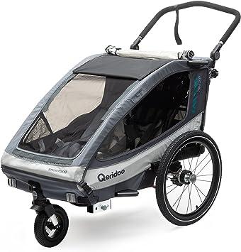 Qeridoo Sportrex 2 Deluxe - Remolque de bicicleta para 2 niños ...