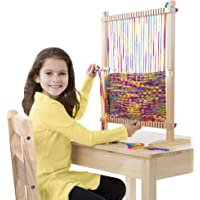 Melissa & Doug Wooden Multi-Craft Weaving Loom, Extra-Large Frame (Multi)