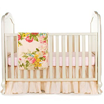 da286b67c Amazon.com : Charlotte 3 Piece Infant Baby Girl Floral Crib Bedding Set by Glenna  Jean : Baby