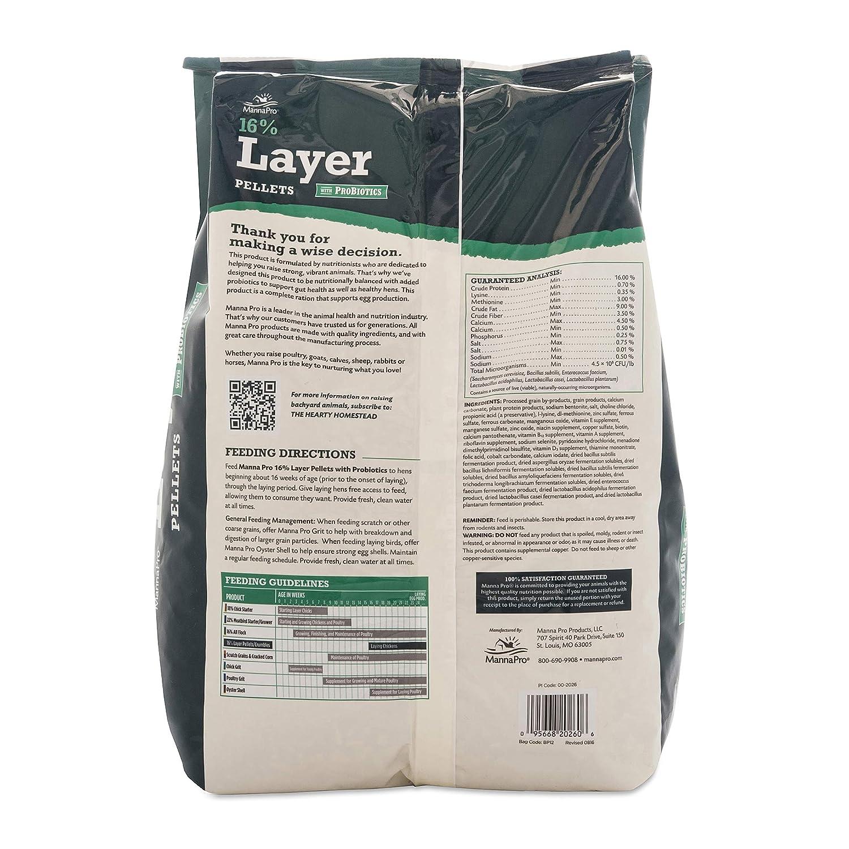 Manna Pro 1000848 667851 16-Percent Layer Pellets 8 lb