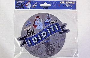 Run Disney Disneyland 2016 - 5K - Car Fridge Magnet I Did It.