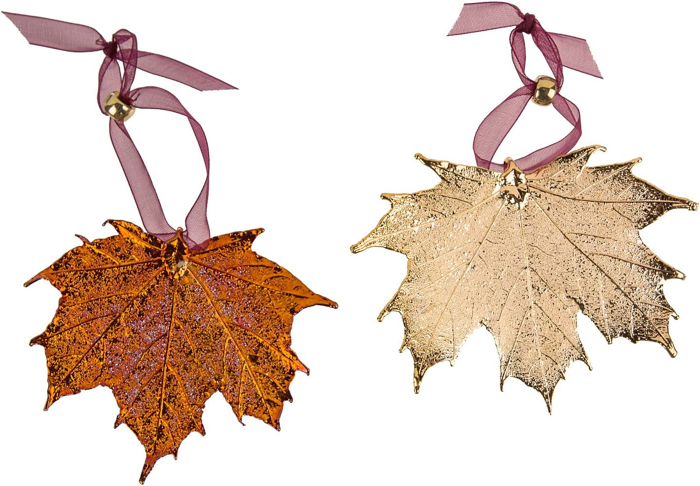 Clip-ons Hooks or Lever Backs Iridescent Green and Antiqued Copper Autumn Maple Leaf Charm Earrings