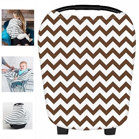 Multiusos orgánico algodón Lycra Enfermería Lactancia Materna, Baby Set de coche para toldo carrito de