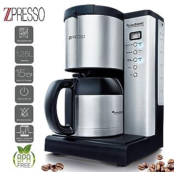 Awesome Edelstahl Kaffeemaschine Mit Thermoskanne Und Timer, Für Bis Zu 15 Tassen  Kaffee (1, Ideas