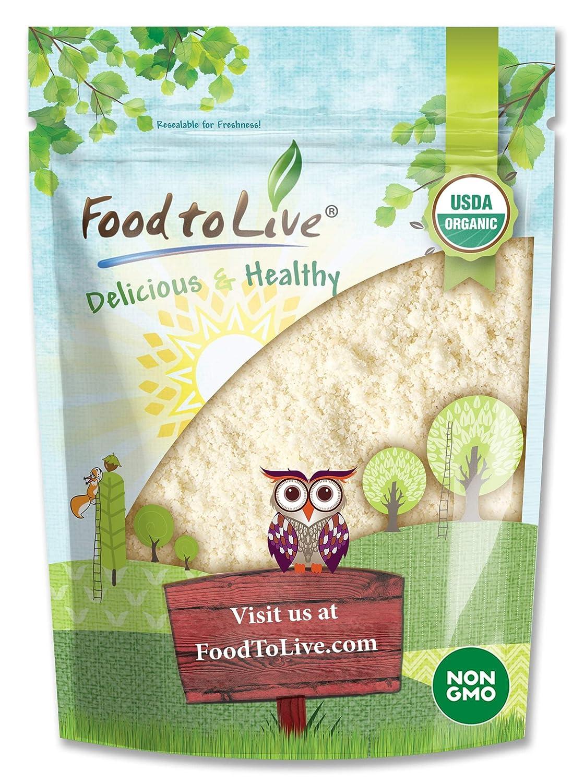 Organic Almond Flour, 2 Pounds — Extra Fine Blanched Prime Meal, Non-GMO, Low Carb, Culinary Grade, Kosher, Keto, Paleo and Vegan Super Powder, Bulk