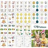 Tatuajes temporales de Pascua para niños, 20 hojas de niños de dibujos animados tatuajes pegatinas Para las decoraciones del partido de Pascua cesta Stuffers
