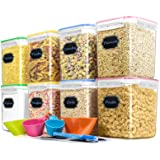 Cereal Container Food Storage Containers, Blingco Set of 8 (2.5L/85oz) Airtight Dry Food Storage Containers with Lids…