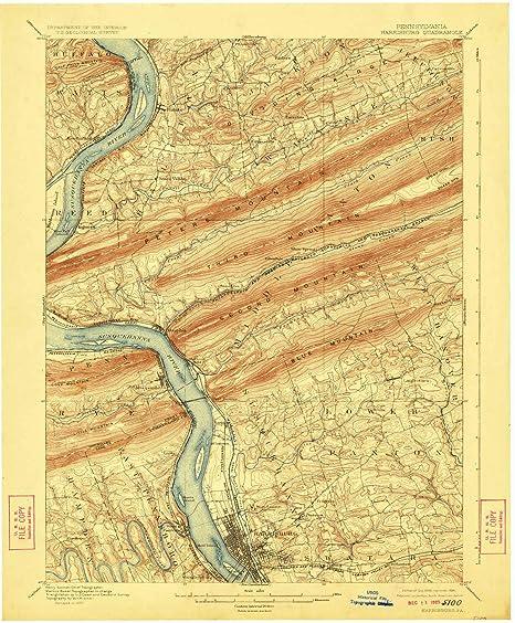 Amazon Com Yellowmaps Harrisburg Pa Topo Map 1 62500 Scale 15 X
