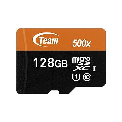 Team Group Micro SD 2 GB con Adaptador SD Tarjeta de Memoria 128 GB Class 10 UHS-I Grade 1
