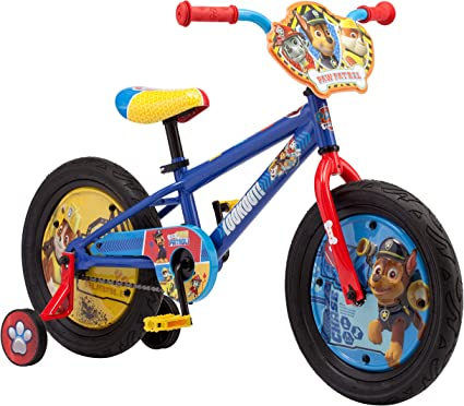 """16/"""" Nickelodeon Paw Patrol All Character Bike with Removable Stability Wheels"""